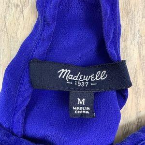 Madewell Tops - Madewell Royal Blue Silk Pleated Cami Tank  3323